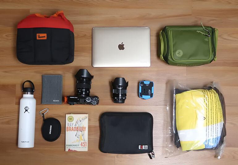 Everything I packed for United Basic Economy Flight